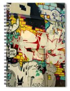 Street Art Valparaiso Chile 6 Spiral Notebook