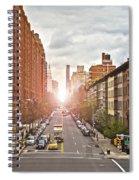 Street As Seen From The High Line Park Spiral Notebook