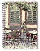 Street Cafe In Heidelberg Spiral Notebook
