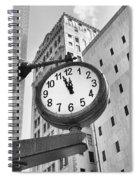 Street Clock Spiral Notebook