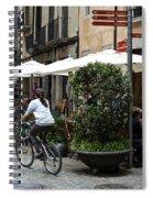 Street Corner Girona Spain Spiral Notebook