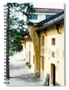 Street In Anhui Province China Spiral Notebook