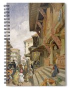 Street In Bombay, From India Ancient Spiral Notebook