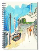 Street In Ericeira In Portugal Spiral Notebook