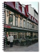 Street In Quebec Spiral Notebook