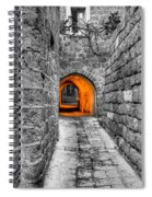 Street In Stone Spiral Notebook