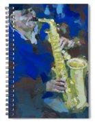 Street Jazzman Near Park  Spiral Notebook
