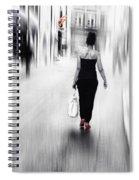 Street Lady Spiral Notebook