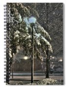 Street Lamp In The Snow Spiral Notebook