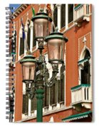 Street Lamps Of Venice Spiral Notebook