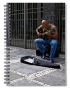 Street Musician - Sao Paulo Spiral Notebook