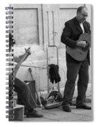 Street Musicians In Avignon Spiral Notebook