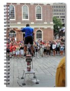 Street Performer Faneuil Hall Market Boston Spiral Notebook