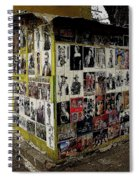 Street Photographer's Shed Icons Us/mexico Border Nogales Sonora  Mexico 2003 Spiral Notebook