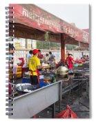 Street Restaurant In Phnom Penh Cambodia Spiral Notebook