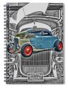 Street Rod In Grill Spiral Notebook