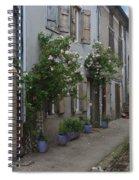 Street Scene Durfort France Spiral Notebook
