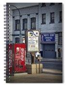 Street Scene With Coke Machine No. 2110 Spiral Notebook
