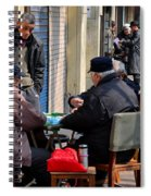 Street Scene With Mahjong Game Shanghai China Spiral Notebook