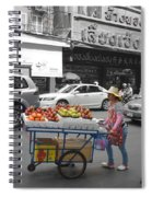 Street Seller Spiral Notebook