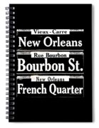 Street Sign Scenes Of New Orleans Spiral Notebook