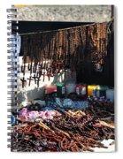 Street Vendor Selling Rosaries Spiral Notebook
