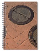 Street Water Covers Spiral Notebook