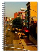 Street With Bus Stop Spiral Notebook