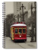 Streetcar On Canal Street - New Orleans Spiral Notebook