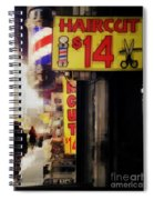 Streets Of New York - Haircut 14 Dollars Spiral Notebook