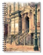 Streets Of Old New York City Watercolor Spiral Notebook