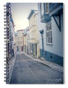Streets Of Old Quebec City Spiral Notebook