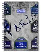 Streets Of Paris Spiral Notebook