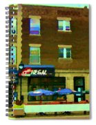 Streets Of Pointe St Charles Centre And Charlevoix Summer La Chic Regal Pub Scenes Carole Spandau Spiral Notebook