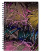 String And Fabric Spiral Notebook