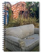 Striped Couch II Spiral Notebook