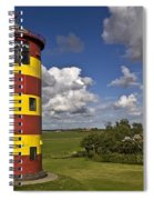Striped Lighthouse Spiral Notebook