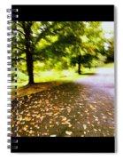 Stroll On An Autumn Lane Spiral Notebook