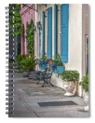 Strolling Down Rainbow Row Spiral Notebook