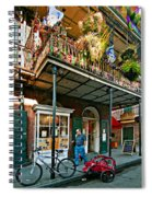 Strolling In The Quarter Spiral Notebook