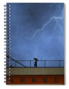 Strolling In The Rain Spiral Notebook