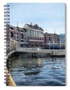 Strolling On The Boardwalk At Disney World Spiral Notebook