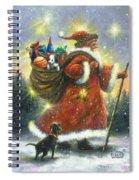 Strolling Santa II Spiral Notebook