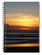 Strolling The Beach During Sunset Spiral Notebook