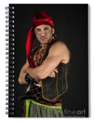 Strong Male Pirate 1 Spiral Notebook