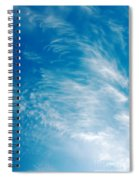 Strong Winds Forming Cirrus Clouds With A Deep Blue Sky. Spiral Notebook