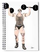Strongest Man Native  Spiral Notebook
