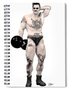 Circus Strongman Spiral Notebook
