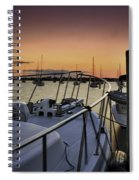 Stuart Marina At Sunset Spiral Notebook