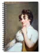 Stuart's Eleanor Parke Custis Lewis Or Mrs. Lawrence Lewis Spiral Notebook